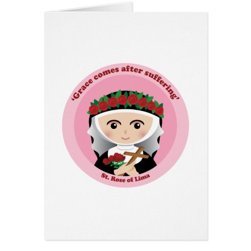 St. Rose of Lima Card