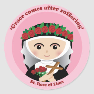 St. Rose of Lima Classic Round Sticker
