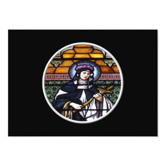 St. Rose of Lima -pray for us-stained glass window Card