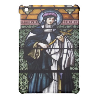 St. Rose of Lima -pray for us-stained glass window Case For The iPad Mini