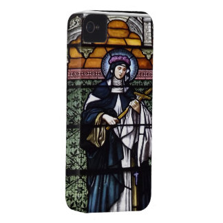 St. Rose of Lima -pray for us-stained glass window Case-Mate iPhone 4 Case