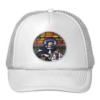 St. Rose of Lima -pray for us-stained glass window Trucker Hat