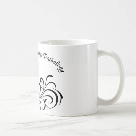 st rose scroll black coffee mug