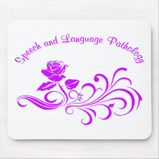 st rose scroll purple mouse pad