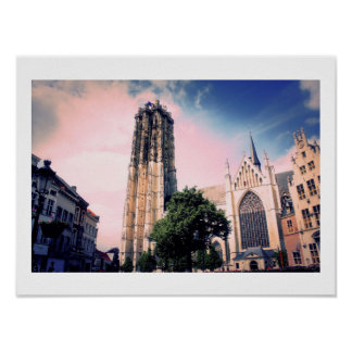 St. Rumbold's Cathedral Mechelen (St Rombouts) Poster