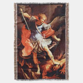 St Saint Michael Archangel Angel Throw Blanket