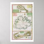 St. San Cristobal, Antigua y Bermudas, detalle de  Posters
