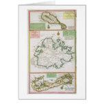 St. San Cristobal, Antigua y Bermudas, detalle de  Tarjetón