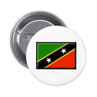 St San Cristobal y bandera de Nevis Pins