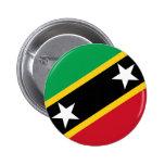 St San Cristobal y bandera de Nevis Pin
