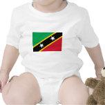 St San Cristobal y bandera de Nevis Trajes De Bebé