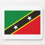 St. San Cristobal y bandera Mousepad de Nevis Alfombrillas De Ratones
