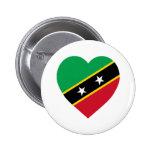 St San Cristobal y corazón de la bandera de Nevis Pin