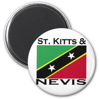 St. San Cristobal y Nevis Imán Redondo 5 Cm