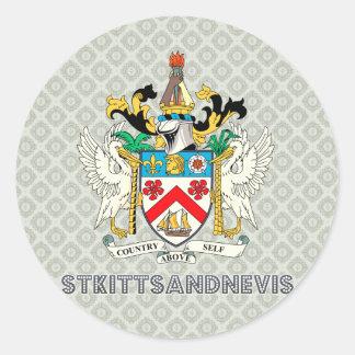 St. San Cristobal y Nevis Etiqueta