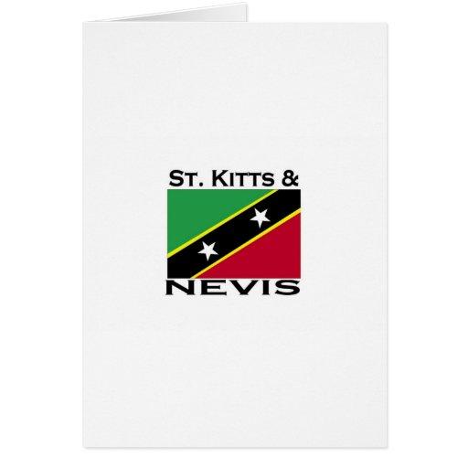 St. San Cristobal y Nevis Tarjeta De Felicitación