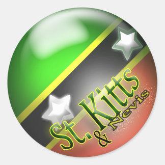 St San Cristobal y pegatina patriótico de Nevis
