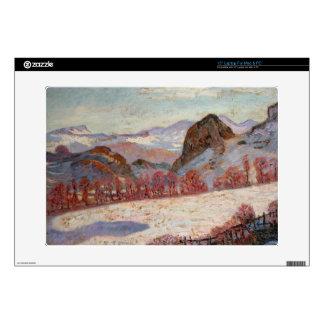 """St. Sauves d'Auvergne, c.1900 (oil on panel) 15"""" Laptop Skins"""