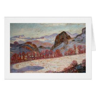 St. Sauves d'Auvergne, c.1900 (oil on panel) Card