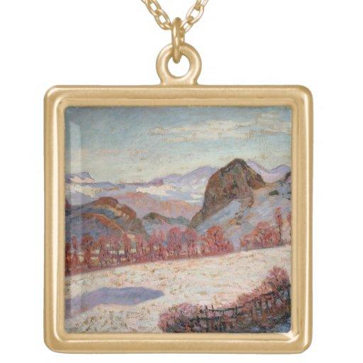 St. Sauves d'Auvergne, c.1900 (oil on panel) Pendants