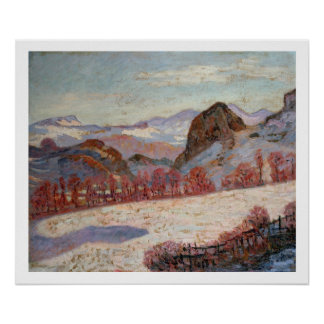 St. Sauves d'Auvergne, c.1900 (oil on panel) Poster