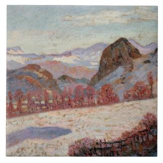 St. Sauves d'Auvergne, c.1900 (oil on panel) Tile