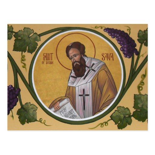 St. Sava Prayer Card Postcard