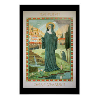 St. Scholastica and Benedict Posters