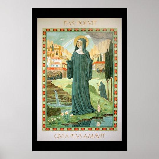 St. Scholastica and Benedict Poster