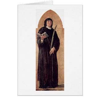 St Scholastica By Andrea Mantegna Card
