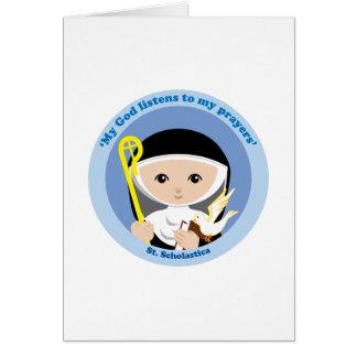 St. Scholastica Card