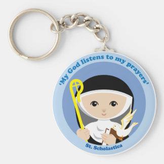 St Scholastica Keychains