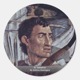 St. Sebastian  By Andrea Mantegna Round Sticker