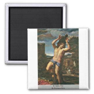 St. Sebastian By Domenichino 2 Inch Square Magnet