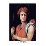 St. Sebastian By Jacopo Pontormo Post Cards