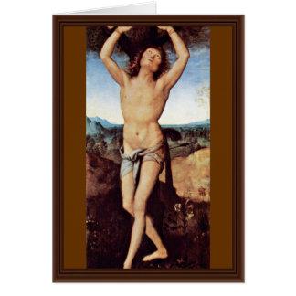 St. Sebastian By Perugino Pietro (Best Quality) Card