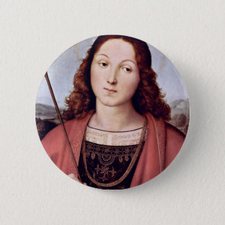 St. Sebastian By Raffael (Best Quality) Button