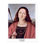 St. Sebastian By Raffael Post Card