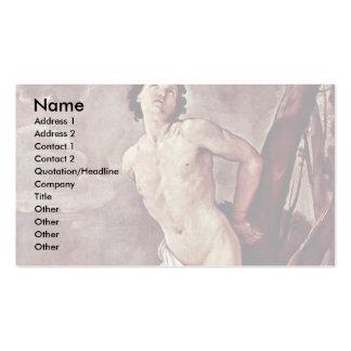 St. Sebastian By Reni Guido Business Card Templates