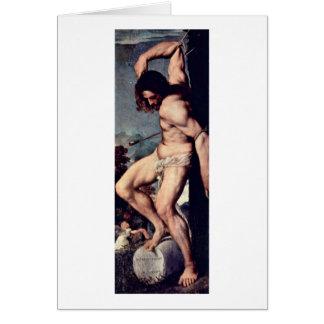 St Sebastian By Titian Card