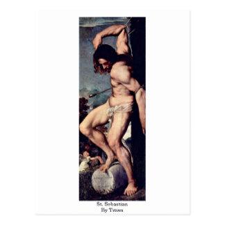 St. Sebastian By Titian Postcard