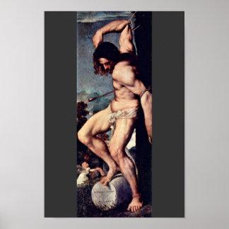 St. Sebastian By Tizian (Best Quality) Poster