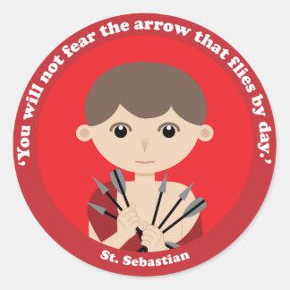 St. Sebastian Classic Round Sticker