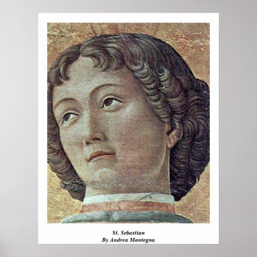 St. Sebastian de Andrea Mantegna Póster