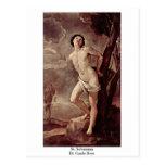 St. Sebastian de Guido Reni Postal