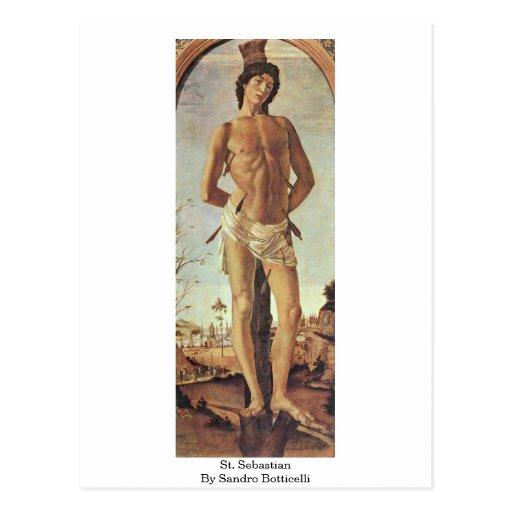 St. Sebastian de Sandro Botticelli Postal