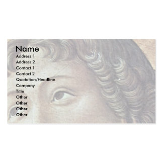 St. Sebastian Detail Of The St. Lucas Altarpiece Double-Sided Standard Business Cards (Pack Of 100)