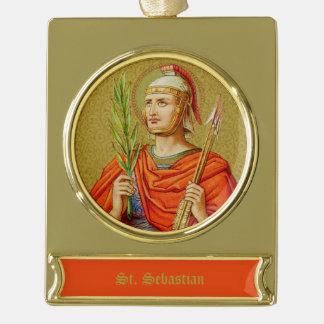 St. Sebastian (SNV 24) Gold Plated Banner Ornament