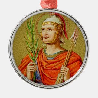 St. Sebastian (SNV 24) Premium Round Metal Ornament