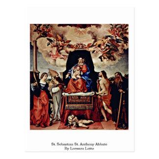 St. Sebastian St. Anthony Abbate By Lorenzo Lotto Postcard